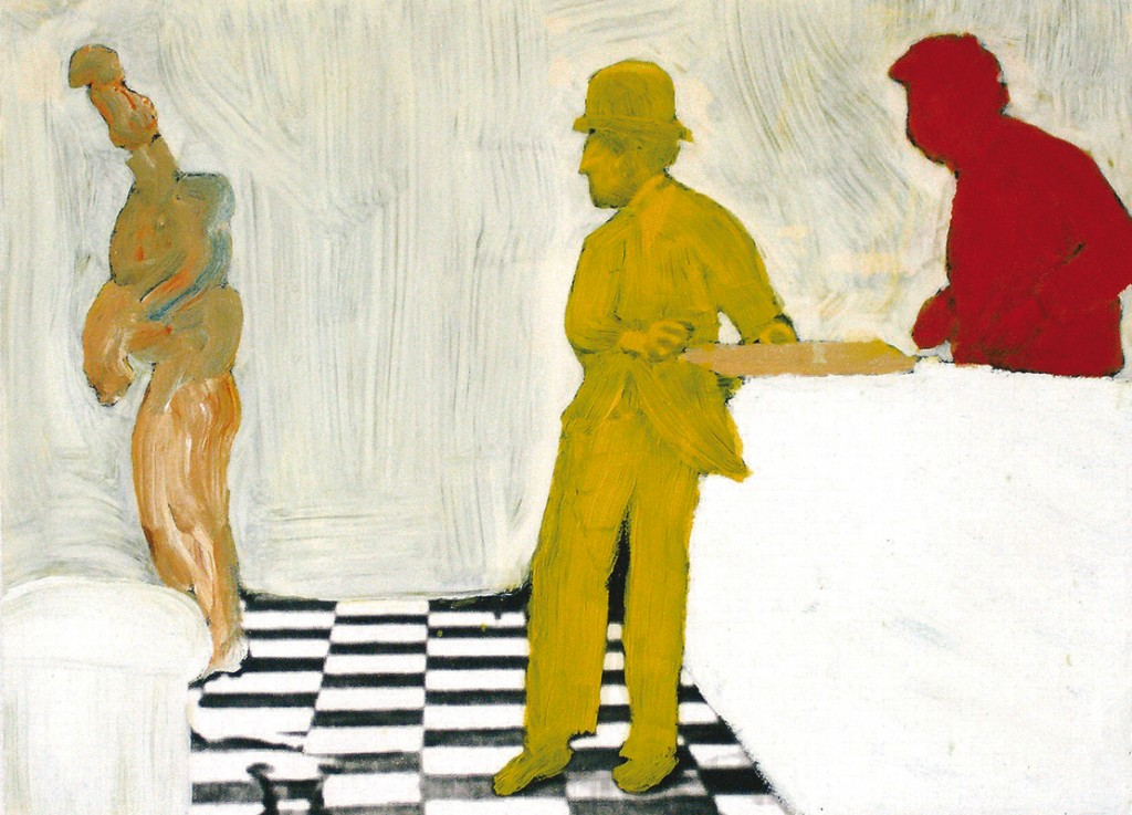A night out#3  2008 | oil on print | 40 x 55 cm