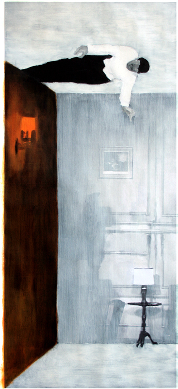 Claustrum#3 2013 | oil on print | 100 x 45 cm