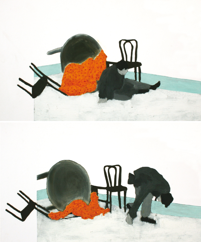 Turning home #4  (diptych) 2012 | mixed media on panel | 2* 30 x 50 cm
